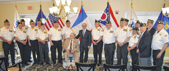 U.S. Army and World War II veteran Lawson Adkins was awarded the French Legion of Honor — the nation's highest honor — by the Consulate General of France in Chicago, Guillaume Lacroix, in a patriotic ceremony Saturday morning at Ohio Living Cape May, where Adkins resides. Many family members, friends and local veterans were part of the event, where Wilmington Mayor John Stanforth also proclaimed it Lawson Adkins Day in the city. For many more photos and information about the event, see wnewsj.com online Monday and the Tuesday print edition of the News Journal.