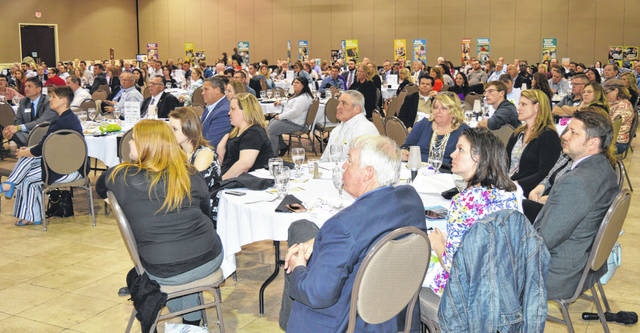 A large crowd attended the annual chamber event held at the Roberts Centre. Some of the many chamber members attending the annual event.