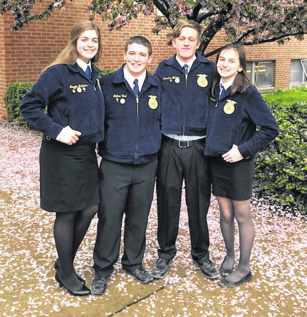 From left are Maggie Mathews, Nathan Vest, Brendon Walters and Holly Bernard.