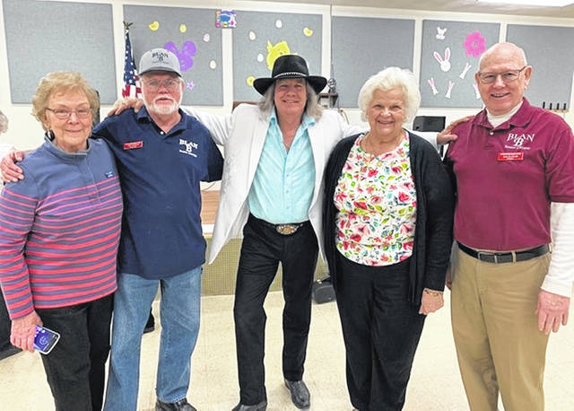 From left are Joyce Nickell, Ken Stribien, David Wayne, his manager Jeanette O'Bryant, and Dan Slocum.