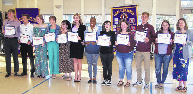 The Wilmington Lions Club hosted Student Recognition Night at the Monday night club meeting. Twelve Wilmington High School seniors were recognized by the club as this year's outstanding students. They were introduced by WHS Principal Dr. Matthew Unger, who was accompanied by Assistant Principal Sam Woodruff. The students shared some of their school year highlights and their future plans for furthering their education. From left are Brendan Powell, Trevor Drake, Claire Greenlees, Chloe Mason, Alana Walker, Aubree Trusty, Mya Jackson, Danie Shaw, Madison Stoops, Mason McIntosh, Skylar Brown and Cailyn Tippett.