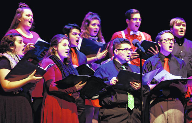 Members of the College Chorale perform at December's Winter Holiday Concert.