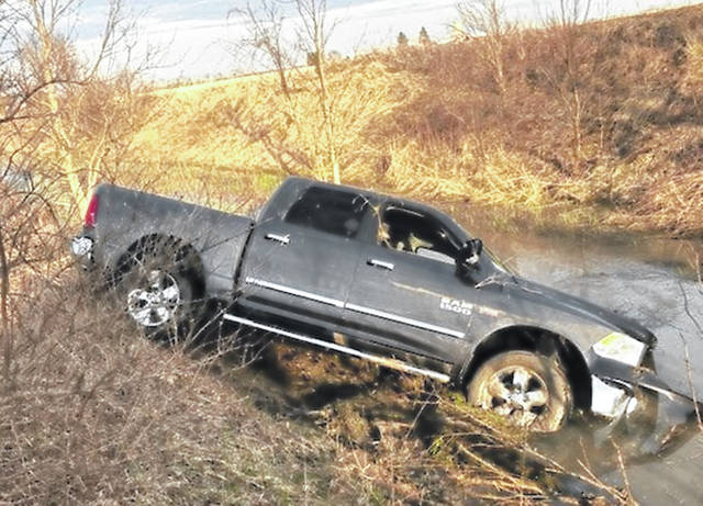 Port William emergency services and the Ohio State Highway Patrol responded to a single-vehicle accident on I-71 at around 5:48 p.m. According to the Patrol, the pickup truck was traveling southbound on I-71 when it crossed the median strip to go northbound and ended in the ditch. No serious injuries were reported.