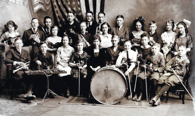 This photo is of the Children's Orchestra, possibly taken in Cincinnati circa 1919-1922. Samuel Kaufman is in the front row, second from right, with the violin. Do you know of anyone in this photo? It is courtesy of the Clinton County Historical Society. The Clinton County History Center is now open Saturdays 10 a.m.-2 p.m. For more info, visit www.clintoncountyhistory.org; follow them on Facebook @ClintonCountyHistory; or call 937-382-4684.
