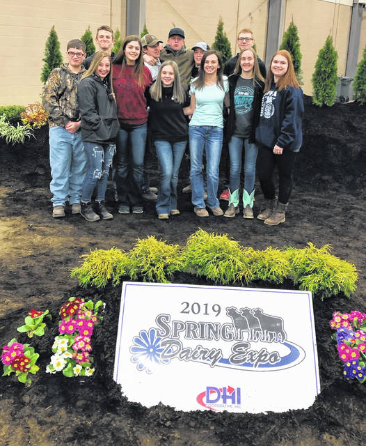 The East Clinton FFA Dairy team.