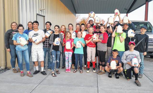The Blue Ribbon Kids 4-H Club based in Sabina recently took the Ten Gallon Milk Challenge, resulting in members donating 30 gallons of milk to the Sabina Church of Christ Outreach program. The club then challenged several other organizations to meet the challenge. For more on the club, see inside today's News Journal.