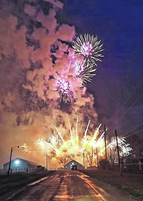 Rozzi Fireworks held its annual fireworks school/pyrotechnics training followed by a show for the public at the Clinton County Fairgrounds on Saturday for their display operators and members of fire services from around the state.