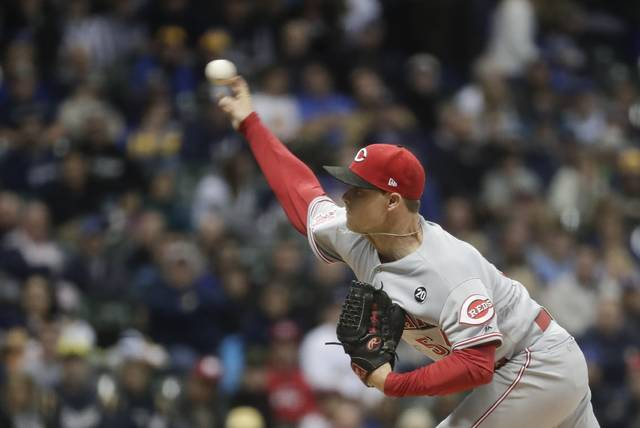 Cincinnati Reds starting pitcher Sonny Gray throws during the first inning of a baseball game against the Milwaukee Brewers Tuesday, May 21, 2019, in Milwaukee. (AP Photo/Morry Gash)