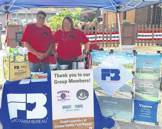 This photograph shows Chuck and Kym Parks from last year's Clinton County Farm Bureau's Member Appreciation Day.