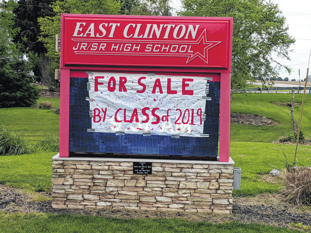 The East Clinton High School Class of 2019 is ready to move on in more ways than one, as some more-than-ready-to-graduate seniors apparently have proclaimed.