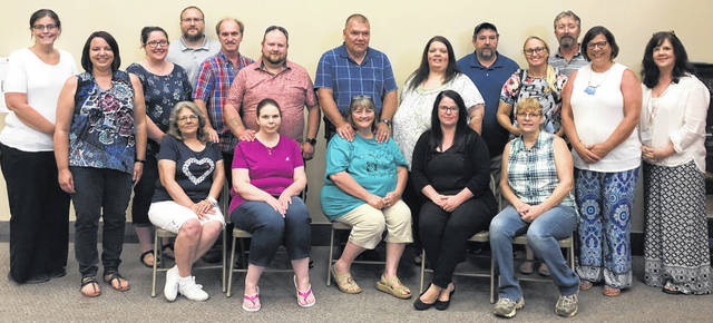 Pictured are some Clinton County Child Protection Unit (Children Services) foster parents and staff. Staff pictured include Jessica Ladnow, Jodi Kidder, Lisa Massie and Dawn Barker.