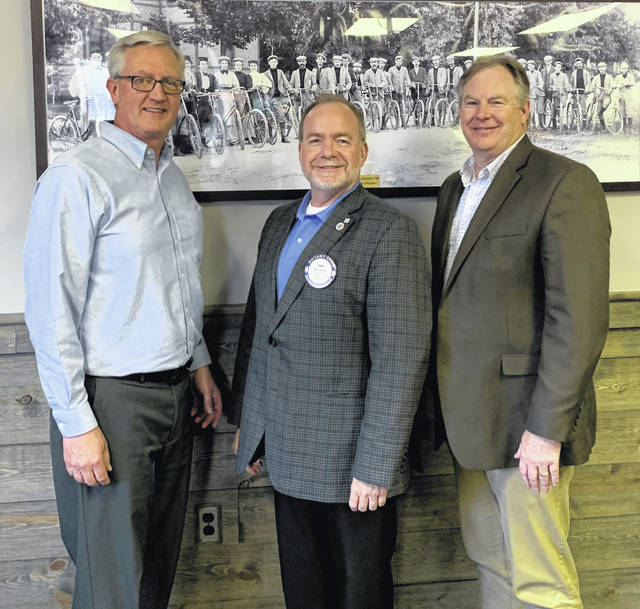 From left are Brad Heath, Vice President of Business Development, LGSTX Services; Dan Evers, President of Wilmington Rotary; and Jeremy Heard, Director of Airports and Facility Maintenance, LGSTX Services.