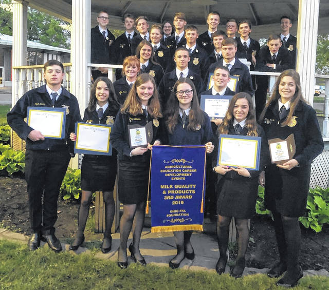 Many East Clinton FFA members received awards at the state convention.