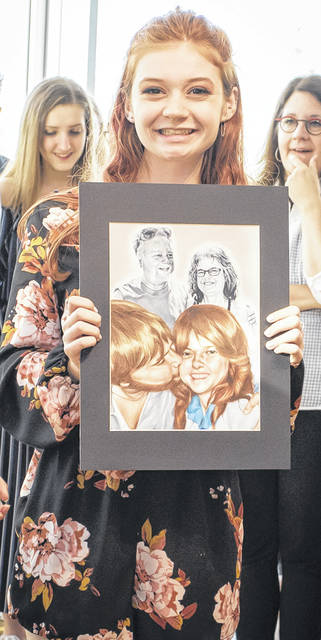 Clinton-Massie High School student Sarah Karns has earned first place in Ohio's 15th Congressional District Art Competition two straight years.