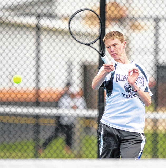 Brian Miller of Blanchester High School had his tennis season end Friday at the sectional tournament.