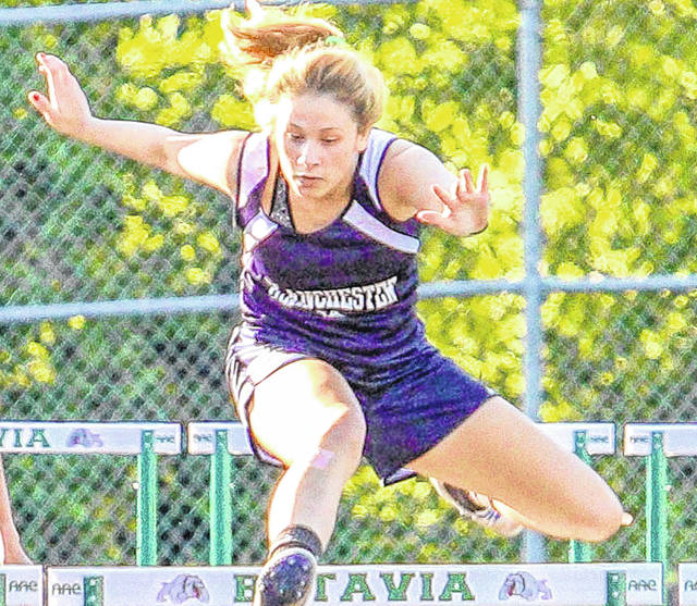 Blanchester's Becca Kratzer was second in the 100-meter hurdles and fourth in the 300-meter hurdles Wednesday at the SBAAC National Division Track & Field Championship meet.