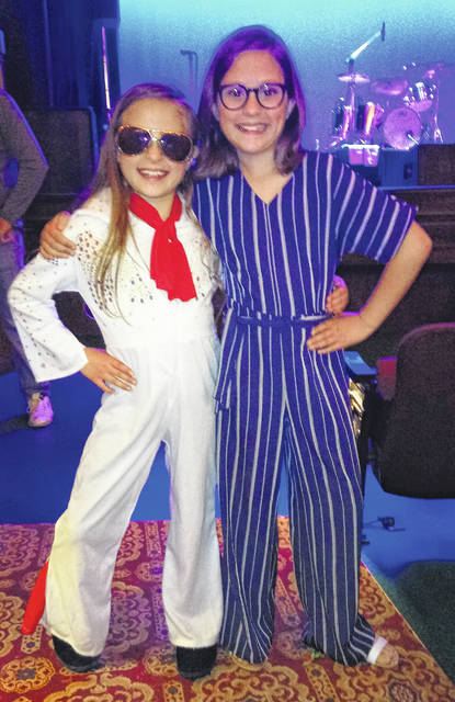 Amelia and Evelyn Lalich of Lebanon came ready to rock as they danced and enjoyed the music of Elvis Presley, along with a packed house, as Mike Albert and the Big E Band performed Saturday night at the Murphy Theatre in Wilmington.