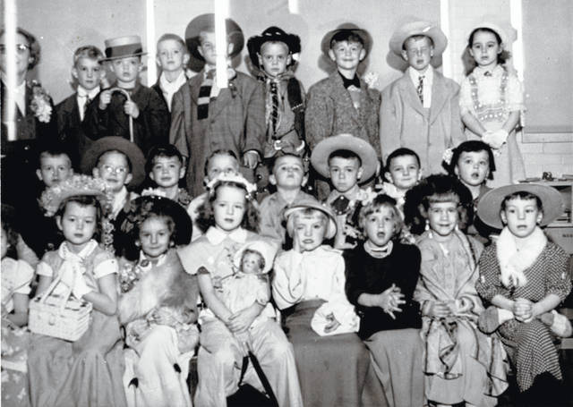 These dapper dressers are East End kindergarten students in Wilmington. Do you know what year it was taken? On the back of the photo, only some of the students are identified with first and last names. Those are: front, Amy Suer, Donna Compton, Karen Elliott, Julie Kier, Linda Jenkins and Linda Seifert; second row, Eddie Adams, Jim Cleavenger, Roger Griffin and Eddie Bisher; third row, Rick Fitzpatrick, Mike Wier, Bob Williams, Jay Walraven, Rod Custis and Geraldine McPherson. Let us know more at info@wnewsj.com. The photo is courtesy of the Clinton County Historical Society. The Clinton County History Center is now open Saturdays 10 a.m.-2 p.m. For more info, visit www.clintoncountyhistory.org; follow them on Facebook @ClintonCountyHistory; or call 937-382-4684.