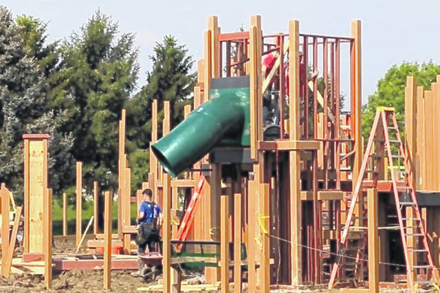 "Great progress has been made in the all-volunteer building of the Castle Park II playground at David Williams Memorial Park in Wilmington. But there's much more work to be done as construction week goes through this weekend — from 8 a.m. to 8 p.m. Saturday and again on Sunday — and the city is asking you to come and help ""Pack the Park!"" Stop by, have fun, get fed and help a great cause."