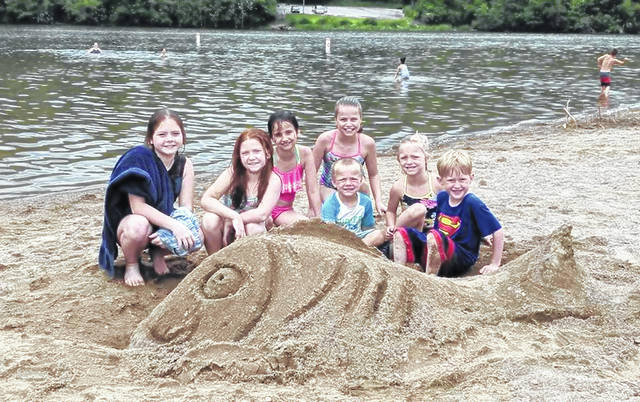 Some kids discovered a strange fish that apparently had washed up onto the Cowan Lake State Park campground beach. They thought that maybe it was a sand shark.
