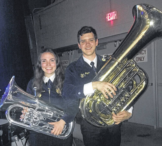 Shelby Robertson and Dylan Piatt participated in the State Band.