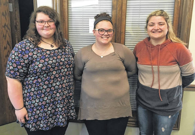 The Sugar & Spice Committee recently presented its 2019 awards. This is the 20th year that the committee has raised funds by compiling a recipe book with forty recipes and holding a luncheon where each dish could be tasted. Pictured are honorees Alexandria Turner of East Clinton High School, Ashley Murphy of Clinton-Massie/Laurel Oaks, and Carson Smith, Homeschool/Laurel Oaks. Not available for photo was Sadie Sutton.