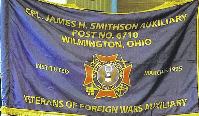 CPL James H. Smithson Auxiliary, Post 6710, Wilmington, recently purchased this more inclusive flag representative of the membership of the VFW Auxiliary.