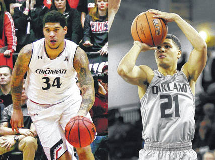 Cousins Jarron (34) and Jaevin (21) Cumberland will be reunited on the basketball floor this season at the University of Cincinnati.