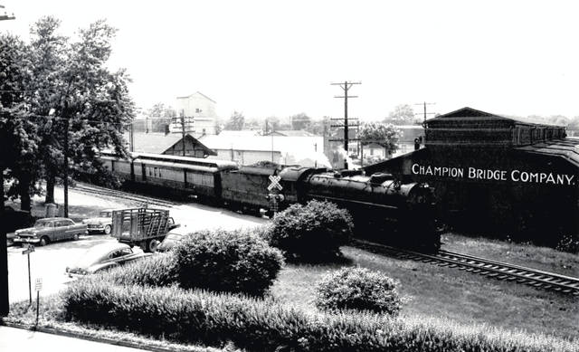This photo is of the last Baltimore & Ohio passenger train going through Wilmington. The photo is looking west on Sugartree Street; the photo was taken from the Irwin Auger Bit Co. on Grant Street. Do you know anything else about this photo? Let us know at info@wnewsj.com. The photo is courtesy of the Clinton County Historical Society. The Clinton County History Center is now open Saturdays 10 a.m.-2 p.m. For more info, visit www.clintoncountyhistory.org; follow them on Facebook @ClintonCountyHistory; or call 937-382-4684.