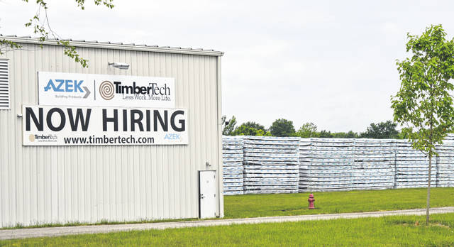 "<strong>A SIGN OF THE TIMES</strong> — Make no mistake about it, TimberTech (Azek) in Wilmington is ""Now Hiring"" as stated on a large sign at the facility along Lowe's Drive."