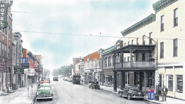 "This ""colorized"" photo of downtown Wilmington is courtesy of the Clinton County Historical Society. Can you tell us about it? The Clinton County History Center is now open Saturdays 10 a.m.-2 p.m. For more info, visit www.clintoncountyhistory.org; follow them on Facebook @ClintonCountyHistory; or call 937-382-4684."