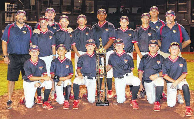 Jacob Stephens, a seventh grader this fall at Wilmington's Rodger O. Borror Middle School, was a member of the Cincy Flames 12u baseball team that won the championship at the Cooperstown Dream Park tournament in Cooperstown, N.Y., home of the National Baseball Hall of Fame and Museum. The 12u team went 11-0 and defeated the No. 2 seed in the tournament championship game. Stephens, a pitcher, catcher and outfielder for the Flames, hit .455 with five homeruns in the tournament. Stephens is scheduled to represent Team Ohio baseball at the 2019 Futures Games in Emerson, Ga., July 30 through Aug. 4, according to information submitted by the family. In the team photo, players and coaches for the 12u Cincy Flames, from left to right, front row, Alec Halter, Colten Muhlenkamp, Casey Doner, Derek Fleming, Bryce Vaughn, Matt Ponatoski; assistant coach Sam Muhlenkamp, Caleb Griewe, assistant coach Adam McDunough, Conner Smith, Zion Theophilus, Eric Fleetwood, Jake Stephens, Preston Zumwalt, assistant coach Ryan Ponatoski, head coach Scott Bray.