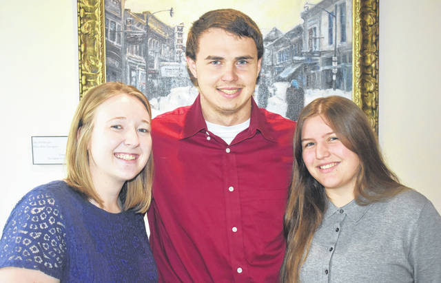 The 2019 Clinton Community Fellows, from left, Lindsey Murphy, Alex Hudson, and Ariana Riccardi.