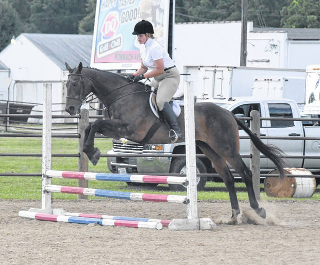 Anna Malone competes in the 2019 Clinton County Fair Horse Show. For much more fair coverage, see inside today's News Journal and online at wnewsj.com.