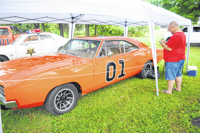 "The General Lee from the television show ""The Dukes of Hazard"" was one of dozens of vehicles that showed up for a car show Sunday at Rumble in the Hills at Rocky Fork State Park."