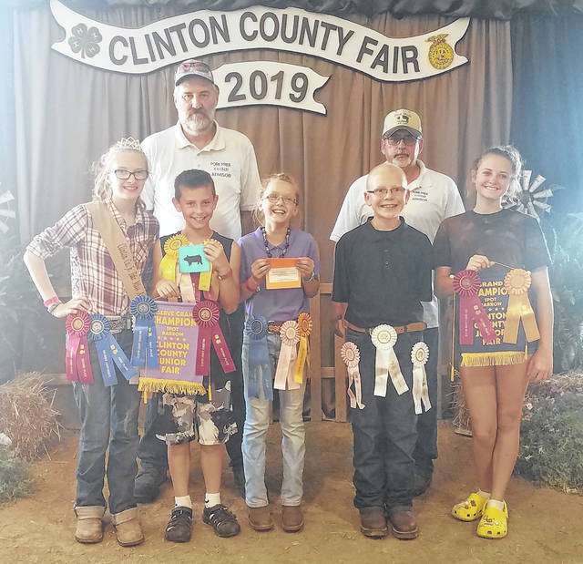 Pictured are: back row, Terry Hatfield and Randy Pinkerton; front row, Mikala Hatfield, Ebon Louderback, Taylor Garringer, Gregary Achtermann, and Lilly Stern.