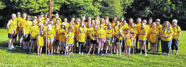 Girl Scouts of Clinton and Warren counties at Camp Whip Poor Will.