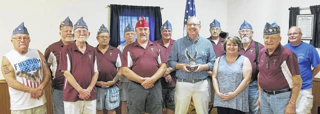 From left are Jim Vest, Jim Cook, Jerry LeForge, Jack Rose, Mike Sutton, Charlie Shoemaker, Richard James, Tom Barr, Charlie Lakatos, Krista Barr (Tom's wife), Mike Boyle, Paul Butler and Delmer Copeland. Not pictured but present is Kelly Hopkins.