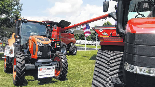 Bane-Welker Equipment had its usual impressive display of inventory set up to show at the Clinton County Fair early in the week.