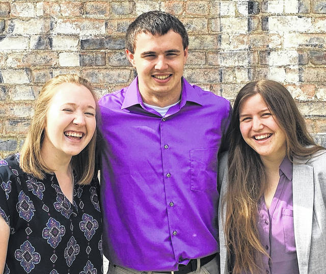 From left are 2019 Clinton Community Fellows Lindsey Murphy, Alex Hudson and Ariana Riccardi.