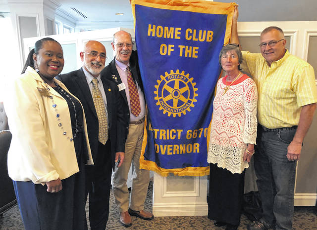 From left are: Sigrid Solomon; Fadi Al-Ghawi (Wilmington AM Past President twice and charter member); Chuck Watts (Wilmington AM Past President and charter member); Mary Gibson (Wilmington AM Treasurer and charter member) ; Rick Stanforth (Wilmington AM Past President and charter member).