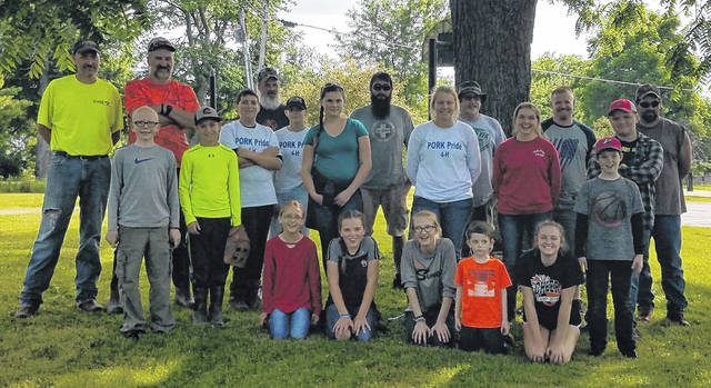 Pork Pride 4-H participated in Survivor Training at Cowan Lake State Park.