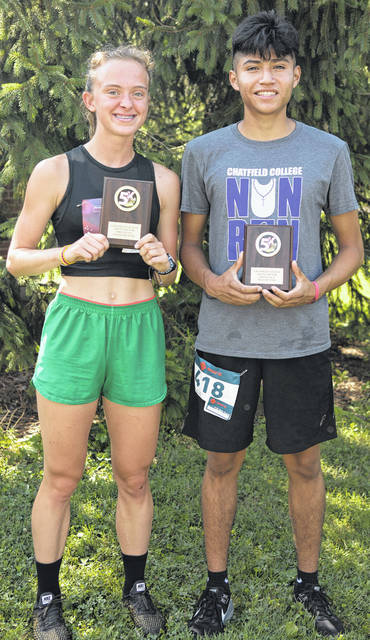 Morgan Walsh finished first in the women's run division with a time of 19:46, while Marty Zumbiel won this year's Nun Run with a time of 18:58.