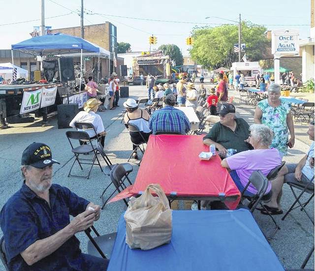 Pictured is North Howard Street (State Route 729), a section of which is shut down for the annual Family Fun Night in Sabina.