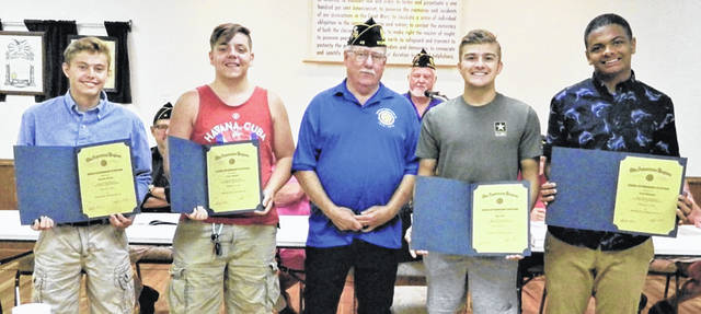 From left are Brayden Rhoads, Jerry Mentzel, Brady Stevens, Rory Bell and Izaia Billingsley. Not pictured is Nick McCabe.