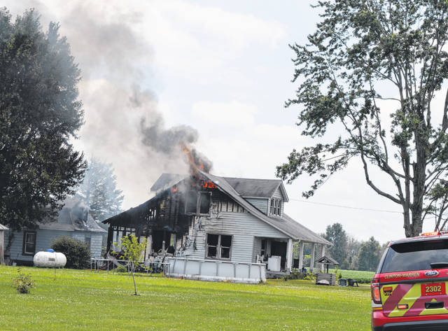 Damage is extensive from a Tuesday fire at a Wisbey Road home.