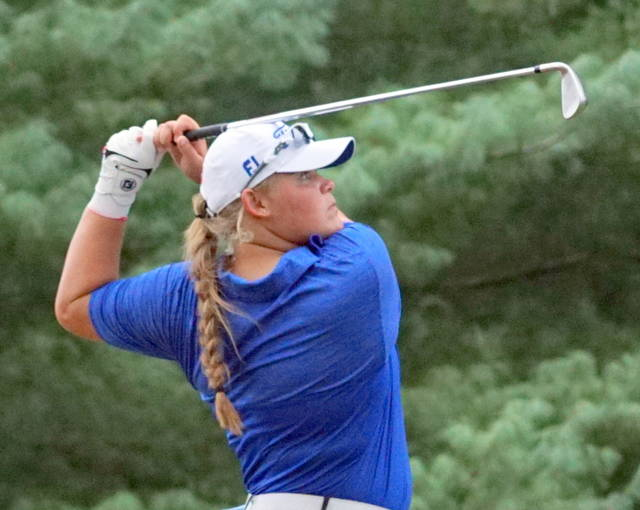 Gabby Woods had a 5-under par 29 Wednesday at Colonial Pines Golf Club, establishing another Clinton-Massie girls golf