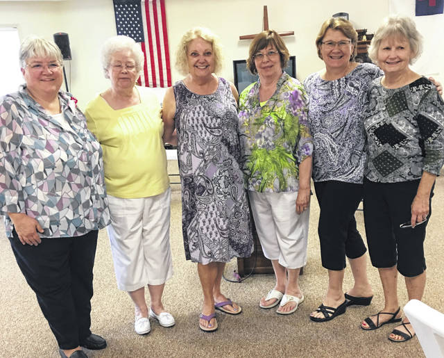 From left are English Club members, Nancy Williams, Vice President; Judy Sargent, Assistant Secretary; Sharon Breckel, Treasurer; Jane Walker, President; and Joan Burge, Sunshine.