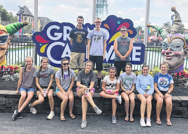 East Clinton FFA officers at Kings island.
