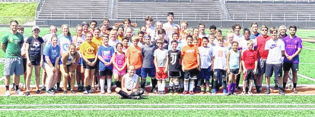 The youth soccer camp at Wilmington High School's Alumni Field was held last week. Young boys and girls were taught the basics of the game of soccer by members and coaches of the Wilmington High School boys and girls soccer teams.